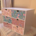 Decopatch Muebles Agradablemakeup Jewellery Chest Ikea Drawers Covered In Decopatch