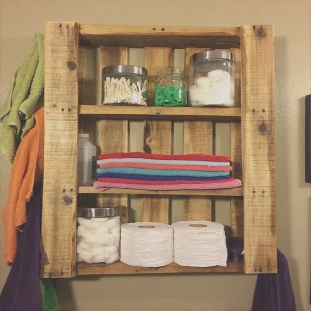 some diy pallet ideas for your bathroom