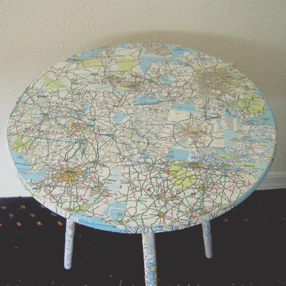 how to decoupage furniture diy paper