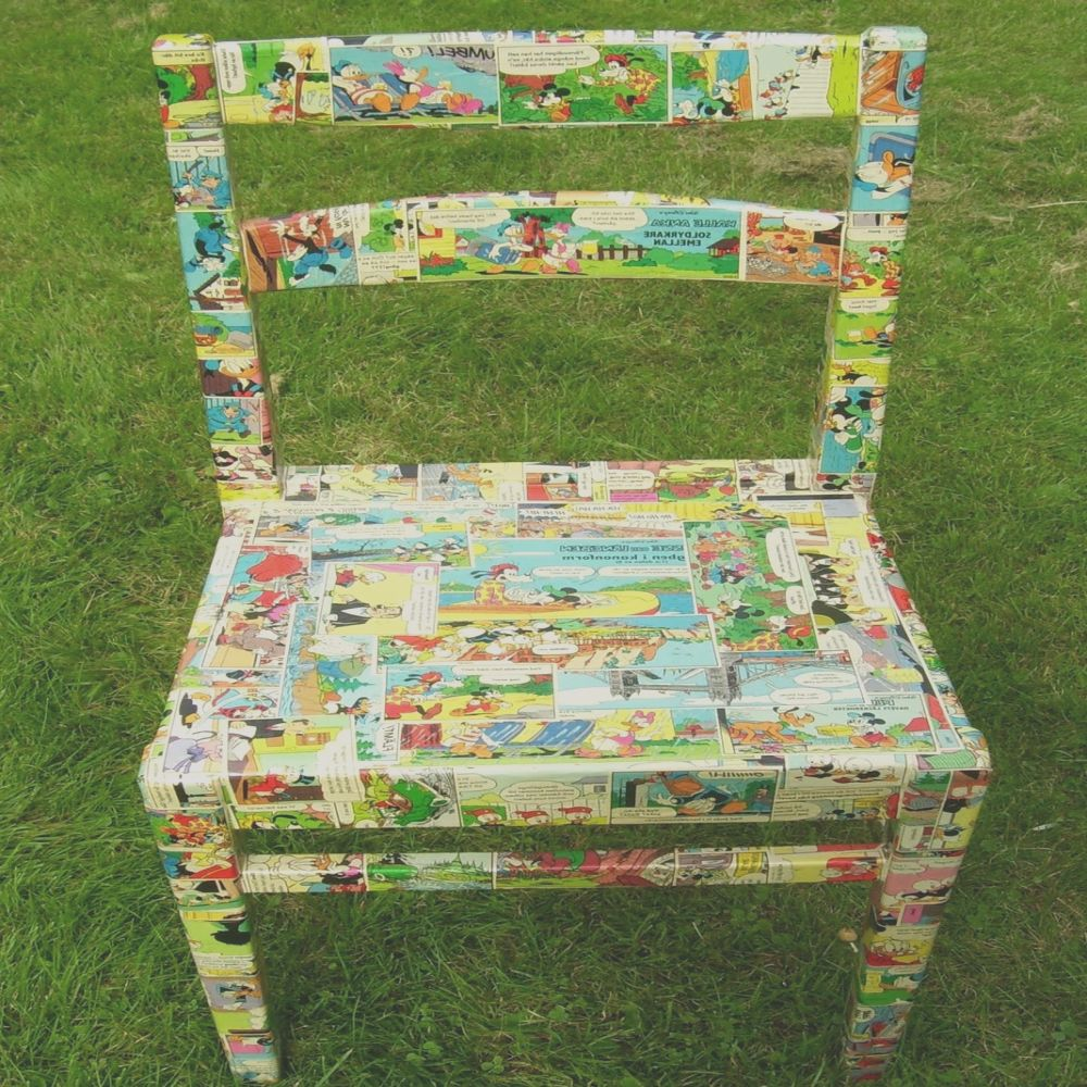 upcylcled chair decoupage project