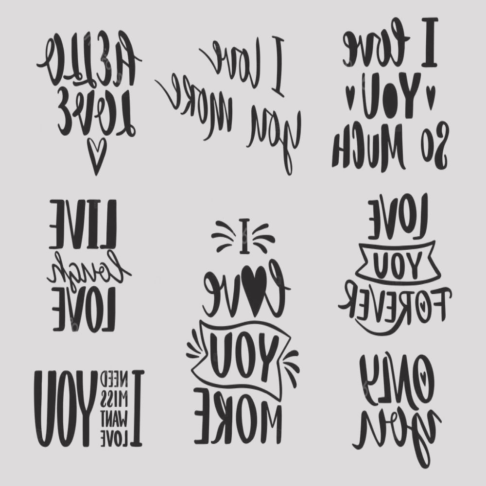 stock illustration quotes valentine lettering love collection