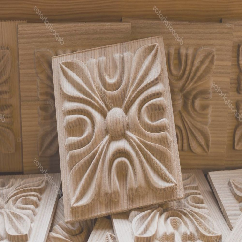 stock photo wooden carved decorative element for