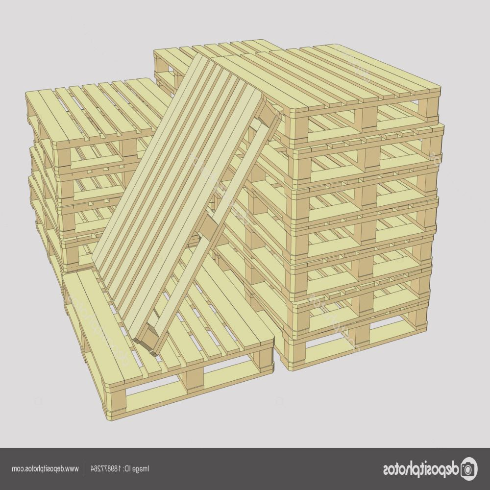 stock photo wooden pallets isolated on white